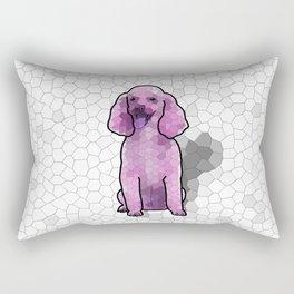Poodle in Amethyst Mosaic Rectangular Pillow