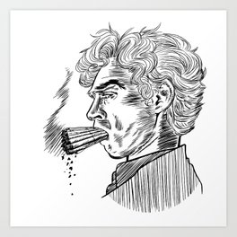 London Smoking Habit (Lineart) Art Print