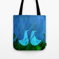 lovers Tote Bags featuring Lovers by Inmyfantasia