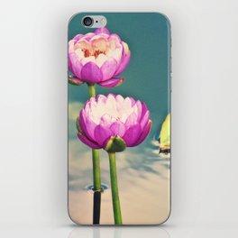 Pink Lotus Flowers (Namaste) iPhone Skin