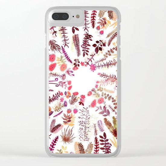pink focus garden Clear iPhone Case