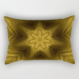 Golden Amber Metalic Abstract Star #Kaleidoscope Rectangular Pillow