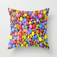 saga Throw Pillows featuring Candy Crush Saga by ArtSchool