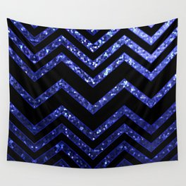ZigZag Blue Sparkley G193 Wall Tapestry