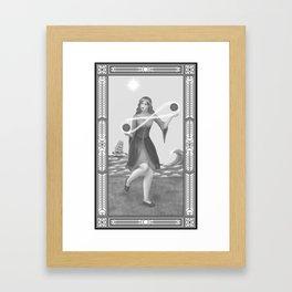 Two of Pentacles Framed Art Print