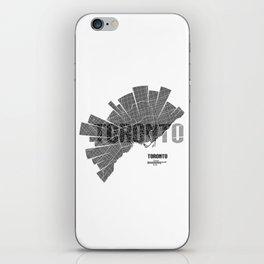 Toronto Map iPhone Skin