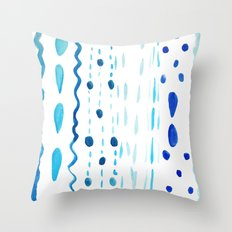 Dot Dash Dot Throw Pillow
