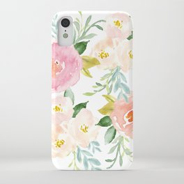5035155cdc73 Sweet Pink Blooms (Floral 02) iPhone Case