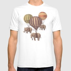 Flight of the Elephants - mint option Mens Fitted Tee White SMALL