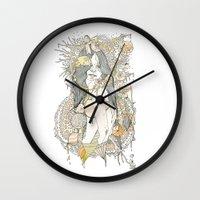 blossom Wall Clocks featuring //blossom// by Cassidy Rae Marietta