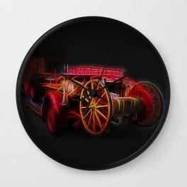 Fractal fire truck Wall Clock