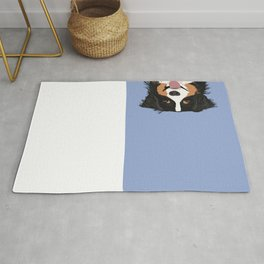 Australian Shepherd cute pastel aussie owner gifts must haves for dog person customized pet portrait Rug
