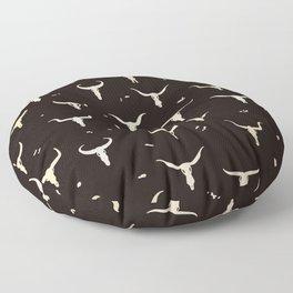 Cow Skulls Western Seamless Pattern Floor Pillow