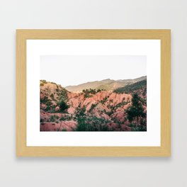 Orange mountains of Ourika Morocco | Atlas Mountains near Marrakech Framed Art Print