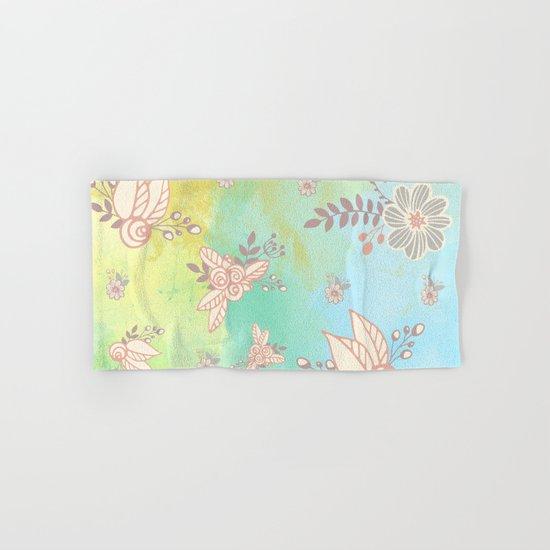 Soft flower pattern Hand & Bath Towel