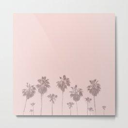 Trees Palm in Pink Metal Print