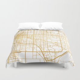 DENVER COLORADO CITY STREET MAP ART Duvet Cover
