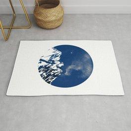 Navy Blue Mountain & Night sky Rug