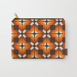 Golden Granny Square Carry-All Pouch