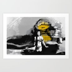 Leia and Jabba Art Print