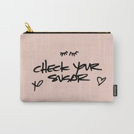 Self Love (Black on Pink) Carry-All Pouch