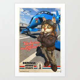Supporting the Cat Army Art Print