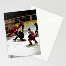The End Zone - Ice Hockey Game Stationery Cards