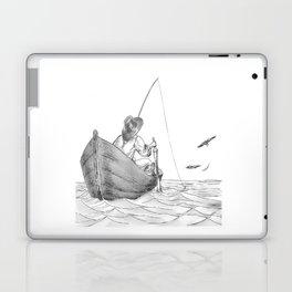 man fishing Laptop & iPad Skin