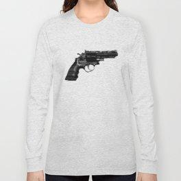 8bit glitch 357 Magnum Revolver Long Sleeve T-shirt