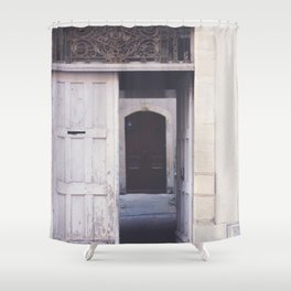 Cottage Doors in Bayeux Shower Curtain