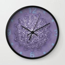 Vintage Lavender Watercolor Mandala Wall Clock