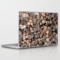 pocket fuel Laptop & iPad Skins featuring WOODEN FUEL by Connor Merrick