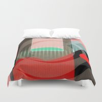 courage Duvet Covers featuring Courage by Kristine Rae Hanning