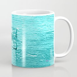 LETTERS - Turquoise Coffee Mug