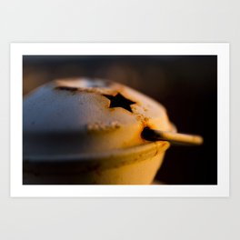 Candlestick at sunset Art Print