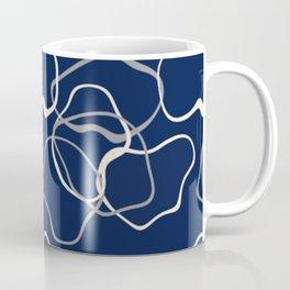 lignes bleues courbes Coffee Mug