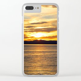 The Golden Sunset Over Quebec Clear iPhone Case