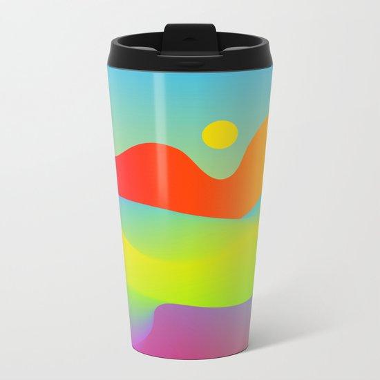 Abstract Desert Metal Travel Mug