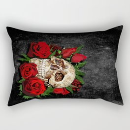 Sugar Skull with red rose iPhone 4 4s 5 5s 5c, ipod, ipad, pillow case and tshirt Rectangular Pillow