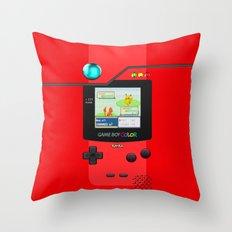 Gameboy Color Pokedex Throw Pillow