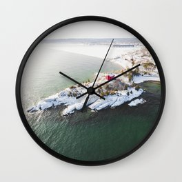 Harbor Lighthouse | Marquette, Michigan | Upper Peninsula | John Hill Photography Wall Clock