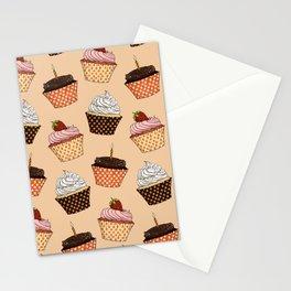 Cupcake Pattern Stationery Cards