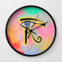 Pharaonic orb eye Wall Clock