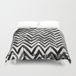 Black Chevron Stripes Boho Designs soutwestern goth Duvet Cover