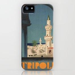 Vintage poster - Tripoli iPhone Case