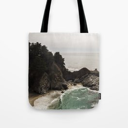 BIG SUR, CA WATERFALL AND COAST Tote Bag