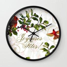 Joyeuses Fêtes Wall Clock