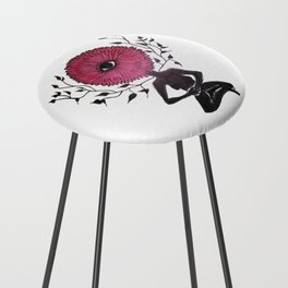 Divine Flower Woman Counter Stool