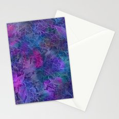 Frozen Leaves 5 Stationery Cards