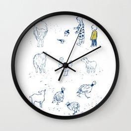 A holiday at a barn Wall Clock